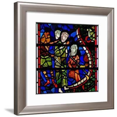 Window C32 Depicting a Scene from the Last Judgement: the Mouth of Hell--Framed Giclee Print