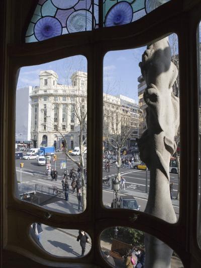 Window, Casa Batlo, Barcelona, Catalonia, Spain, Europe-Martin Child-Photographic Print