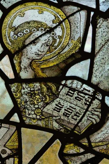 Window Depicting St Anne Teaching the Virgin to Read - Detail of the Virgin Mary--Giclee Print