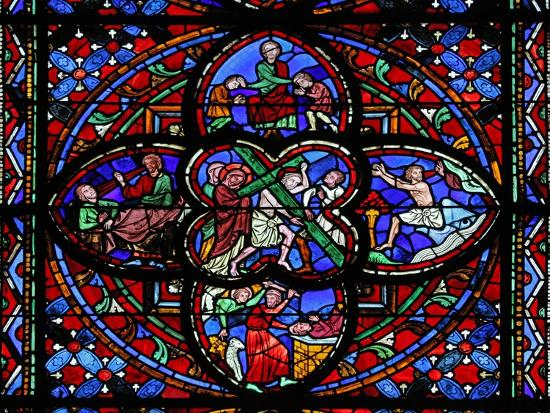 Window Depicting the Second Section of W0: the Way of the Cross--Giclee Print