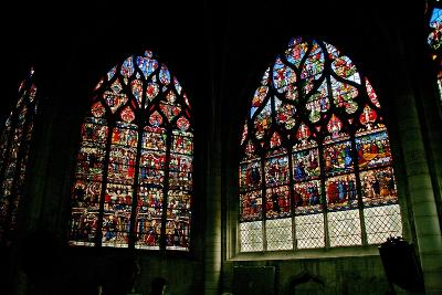 Window Depicting the South Side of the Nave with Windows W4 and W6--Giclee Print