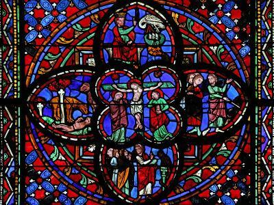 Window Depicting the Third Section of Window W0 with the Crucifixion--Giclee Print