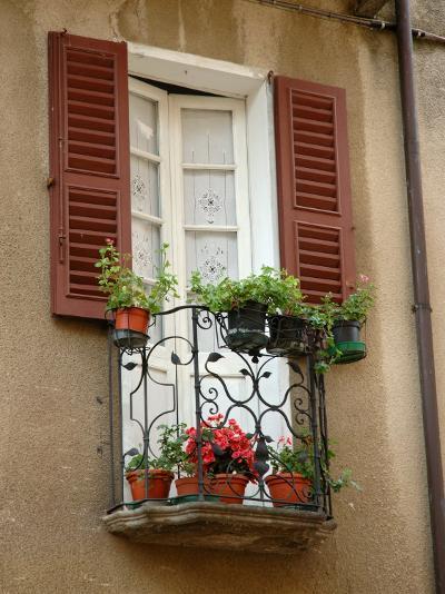 Window Detail, Lake Orta, Orta, Italy-Lisa S^ Engelbrecht-Photographic Print