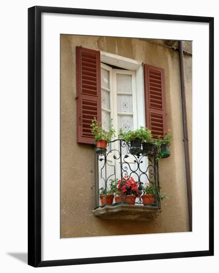 Window Detail, Lake Orta, Orta, Italy-Lisa S. Engelbrecht-Framed Photographic Print