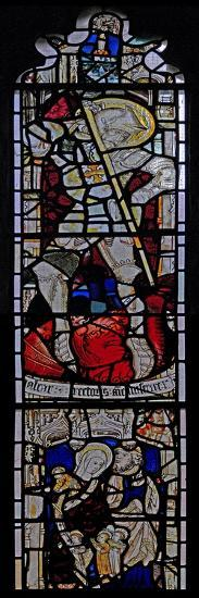 Window Ew Depicting St George; St Mary Cleopas, Alphaeus and their Children--Giclee Print