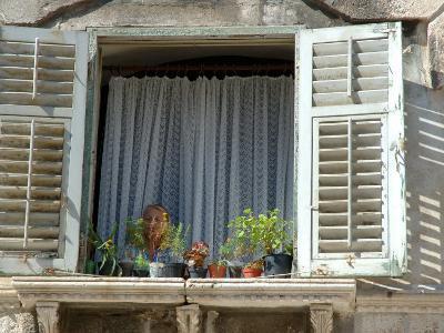 Window in Private Home, Split, Croatia-Lisa S^ Engelbrecht-Photographic Print
