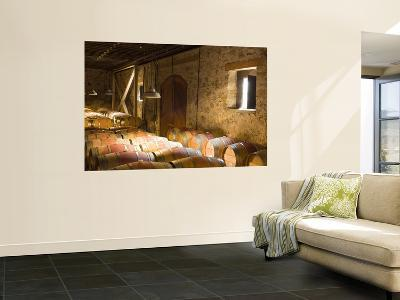 Window Light Streams Into Barrel Room at Hess Collection Winery, Napa Valley, California, USA-Janis Miglavs-Giant Art Print