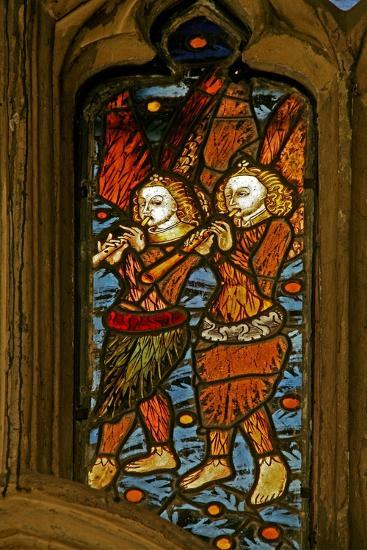 Window N1 Depicting Musician Angels with Oboes--Giclee Print