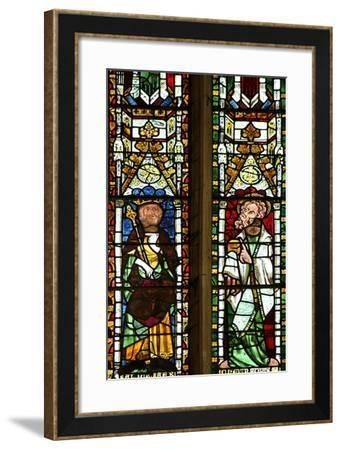 Window N2 Depicting Solomon and a Prophet--Framed Giclee Print