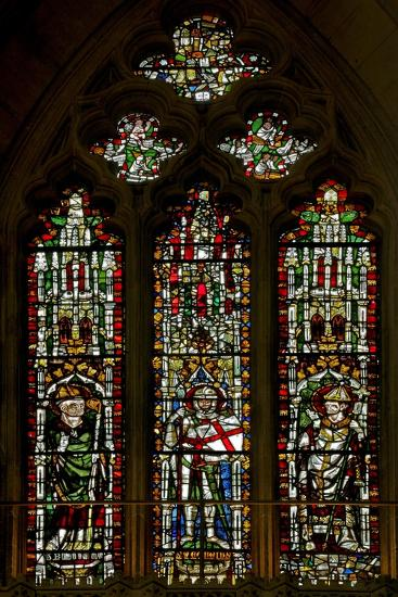Window N2 Depicting St Blaise, St George and a Pope--Giclee Print