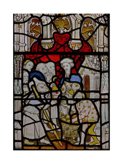 Window N4 Depicting the Works of Mercy; Feeding the Hungry--Giclee Print
