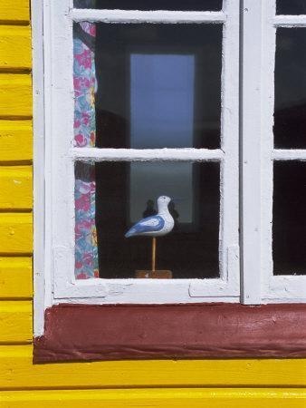 Window of Beach Hut, Aeroskobing, Island of Aero, Denmark, Scandinavia, Europe-Robert Harding-Photographic Print