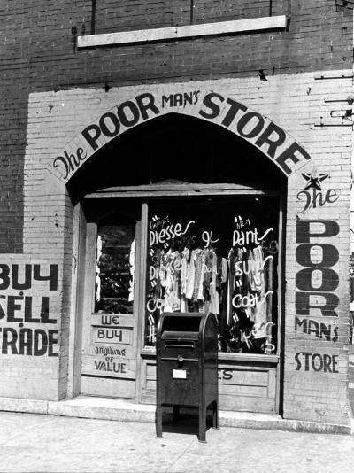 Window of the Poor Man's Store on Beale Street in Memphis-Alfred Eisenstaedt-Photographic Print