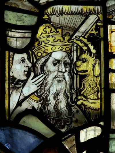 Window S3 Depicting a Pope Receiving Counsel from a Woman Egged-On by a Demon--Giclee Print