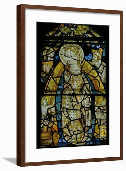 Window S4 Depicting the Virgin Mary, Fragmentary But Fine Details--Framed Giclee Print