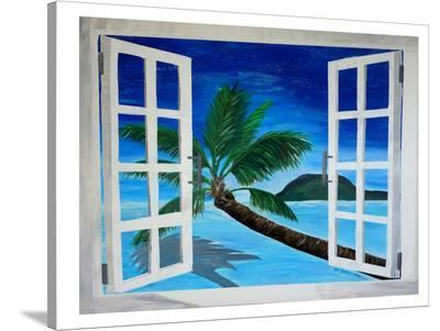 Window To Paradise-M Bleichner-Stretched Canvas Print