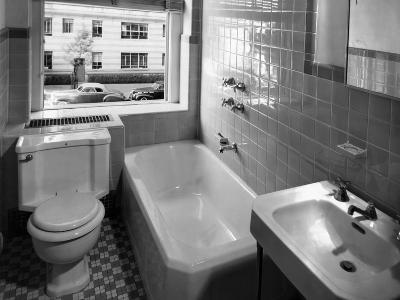 Window View from Earlier Modernized Bathroom-Philip Gendreau-Photographic Print