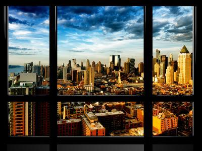 Window View, Landscape at Sunset, Theater District and Hell's Kitchen Views, Manhattan, New York-Philippe Hugonnard-Photographic Print