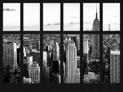 Window View - Landscape with the Empire State Building and the 1 WTC - Manhattan - NYC-Philippe Hugonnard-Photographic Print