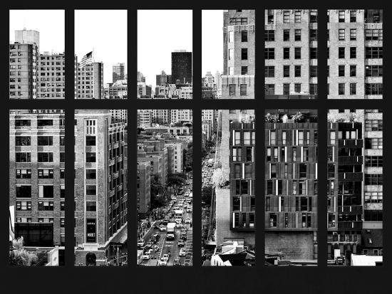 Window View - Meatpacking District with the Chelsea Market Building - Manhattan - New York City-Philippe Hugonnard-Photographic Print