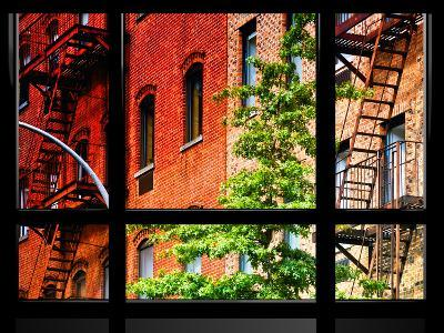 Window View, Special Series, Buildings, Stairs, Emergency, New York, United States-Philippe Hugonnard-Photographic Print