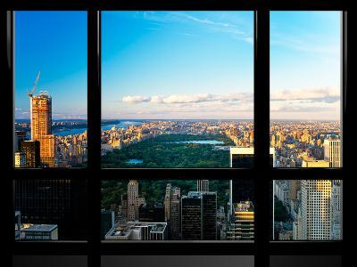 Window View, Special Series, Central Park, Sunset, Manhattan, New York, United States-Philippe Hugonnard-Photographic Print