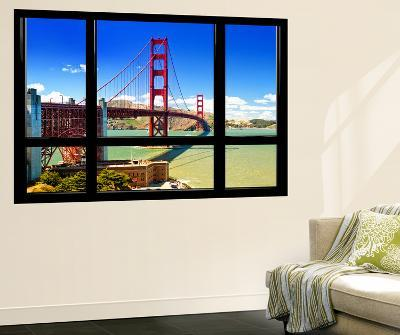Window View, Special Series, Golden Gate Bridge, San Francisco, California, United States-Philippe Hugonnard-Wall Mural