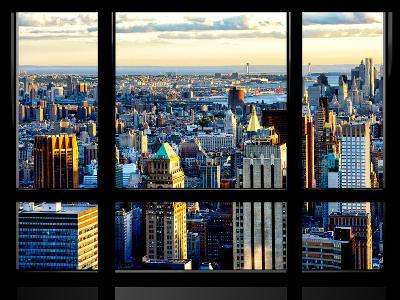 Window View, Special Series, Skyscrapers View at Sunset, Midtown Manhattan, NYC-Philippe Hugonnard-Photographic Print