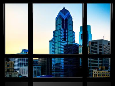 Window View, Special Series, Sunset Philly Skyscrapers View, Philadelphia, Pennsylvania, US, USA-Philippe Hugonnard-Photographic Print