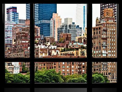 Window View, Special Series, Sutton Place District, Downtown Manhattan, New York-Philippe Hugonnard-Photographic Print