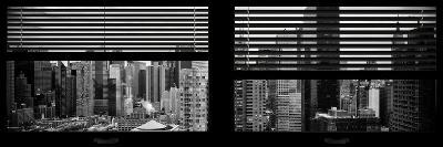 Window View with Venetian Blinds: 42nd Street with theTop of the Empire State Building-Philippe Hugonnard-Photographic Print