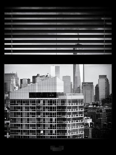 Window View with Venetian Blinds: Cityscape Manhattan with One World Trade Center (1 WTC)-Philippe Hugonnard-Photographic Print