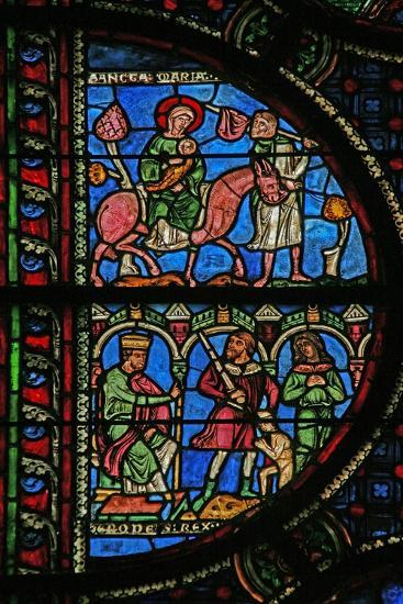 Window W0 Depicting Herod Orders the Massacre of Innocents; the Flight into Egypt--Giclee Print