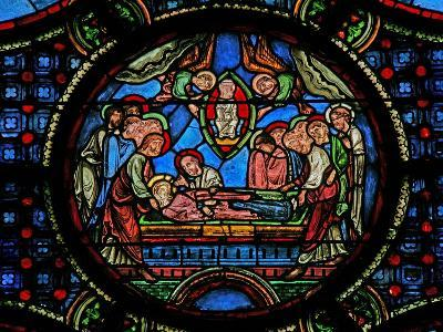Window W0 Depicting the Death of the Virgin Mary--Giclee Print