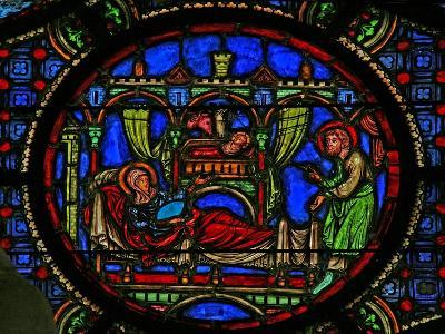 Window W0 Depicting the Nativity--Giclee Print