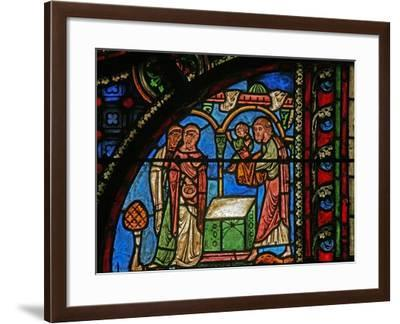 Window W0 Depicting the Presentation in the Temple--Framed Giclee Print