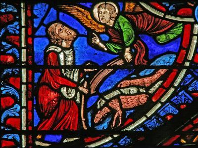 Window W1 Depicting the Annunciation to Joachim--Giclee Print