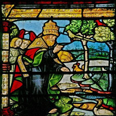 Window W1 Depicting the Creation of Fish and Fowl--Giclee Print