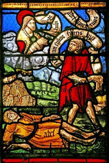 Window W2 Depicting Cain Kills Abel--Giclee Print