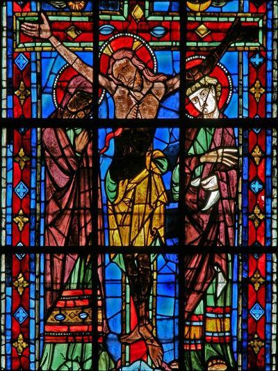 Window W200 Depicting the Crucifixion--Giclee Print