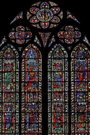 Window W204 Depicting Female Saints--Giclee Print