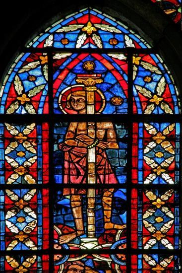Window W209 Depicting a Scene from the Life of St Savinien--Giclee Print