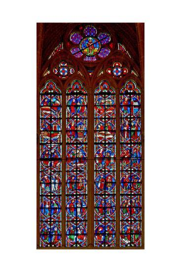 Window W209 Depicting Scenes from Life of St Nicholas--Giclee Print