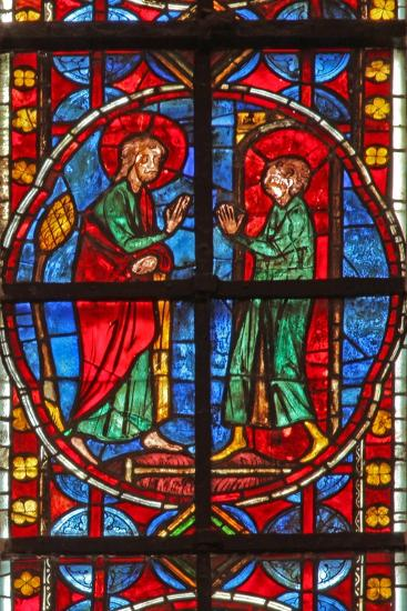 Window W210 Depicting St James and the Magician Hermogenes' Apprentice Philetus--Giclee Print