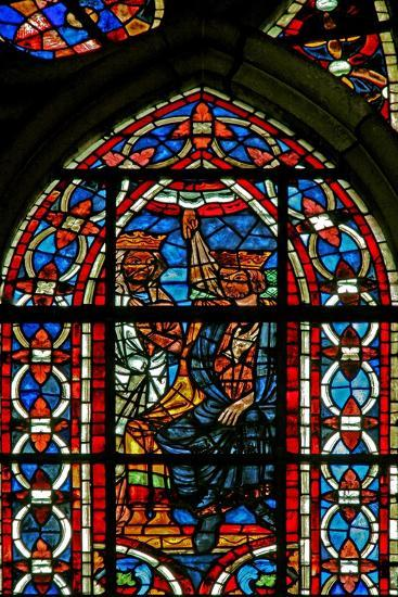 Window W211 Depicting the Death of King Agiel by Divine Will--Giclee Print