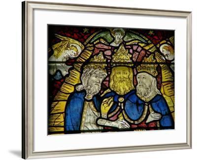 Window W25 Depicting the Trinity--Framed Giclee Print