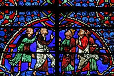 Window W3 Depicting Discussion Re the Cana Marriage--Giclee Print