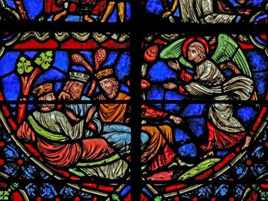Window W3 Depicting the Magi are Warned in a Dream--Giclee Print