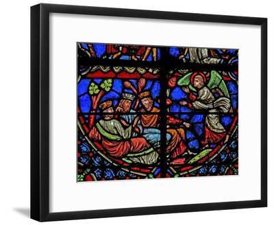 Window W3 Depicting the Magi are Warned in a Dream--Framed Giclee Print
