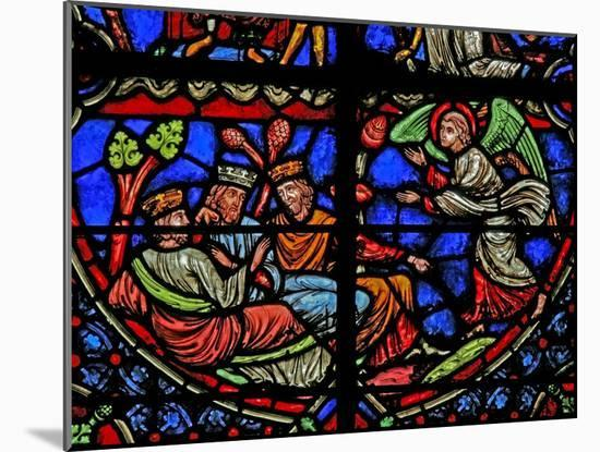 Window W3 Depicting the Magi are Warned in a Dream--Mounted Giclee Print